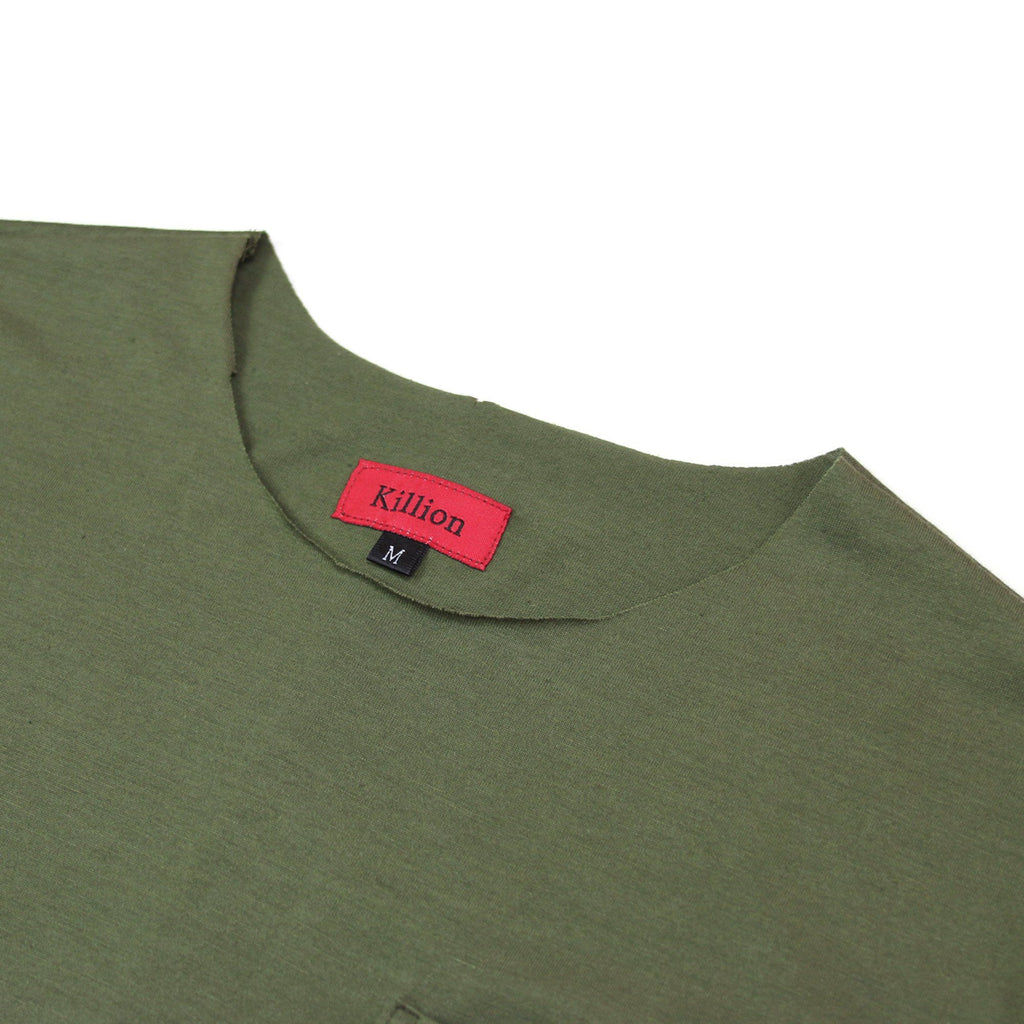 Raw Edges Cotton Pocket Shirt - Olive