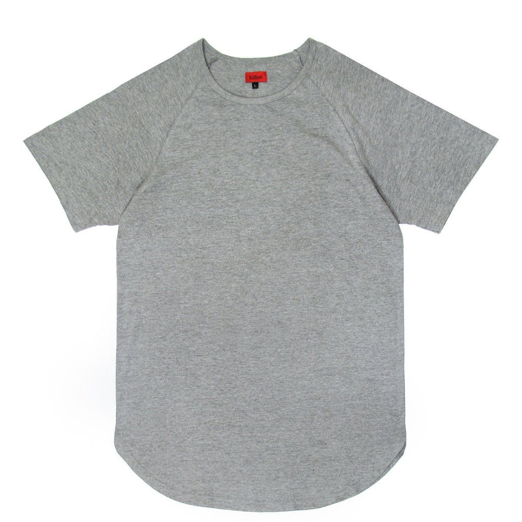 Standard Issue Scoop Extended Shirt - Heather Grey