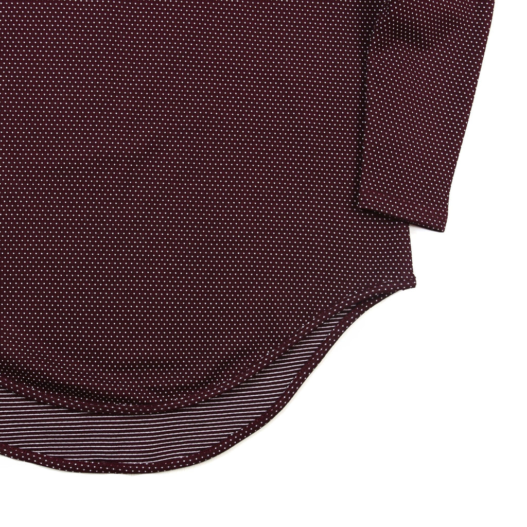Macrodot Dropped Shoulder LS - Burgundy