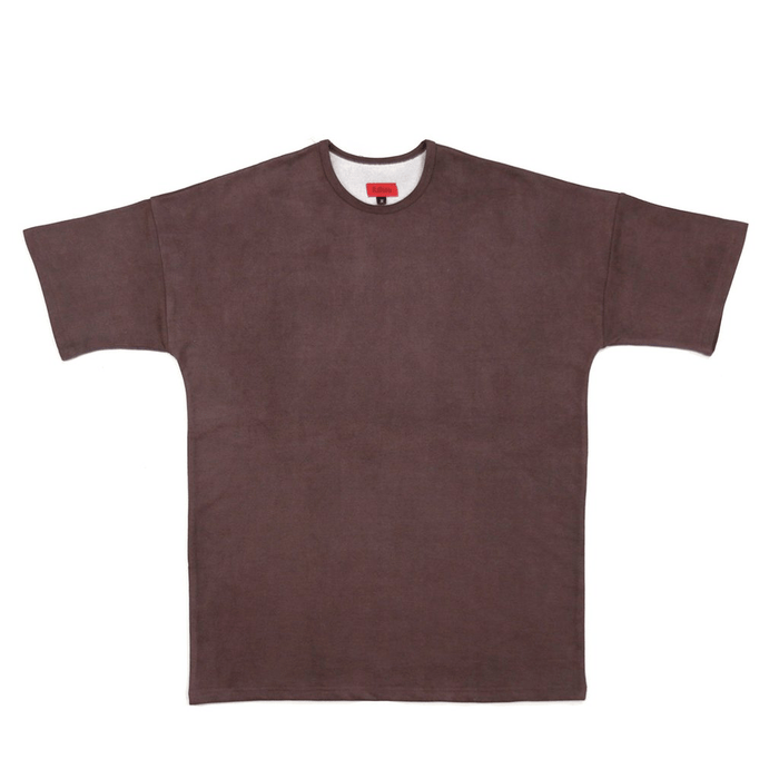 Nubuck Dropped Shoulder Tee - Brown