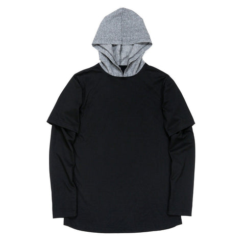 Cham Hooded L/S Essential - Black