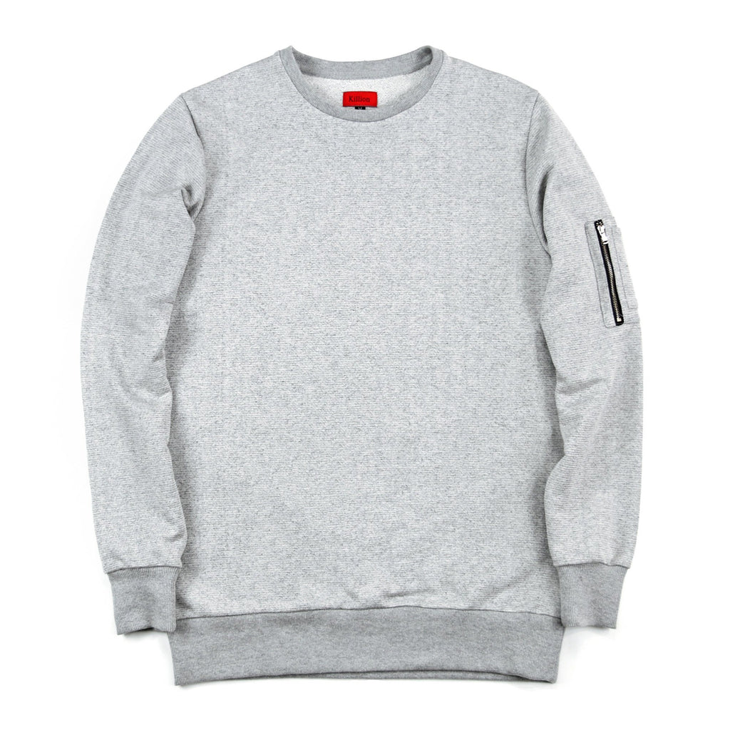 Suffolk Terry MA-1 Crewneck - Heather Grey