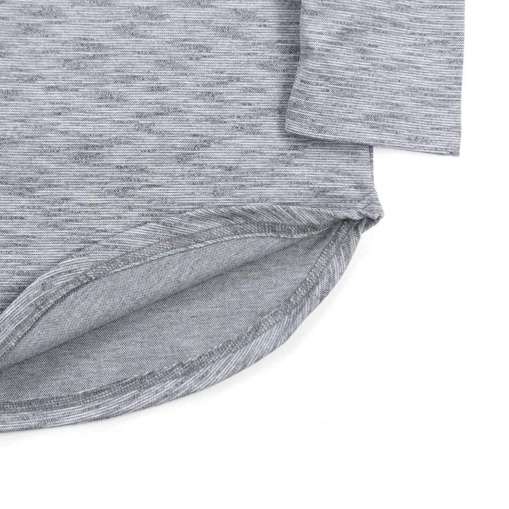 Marled Scoop Long Sleeve - Grey