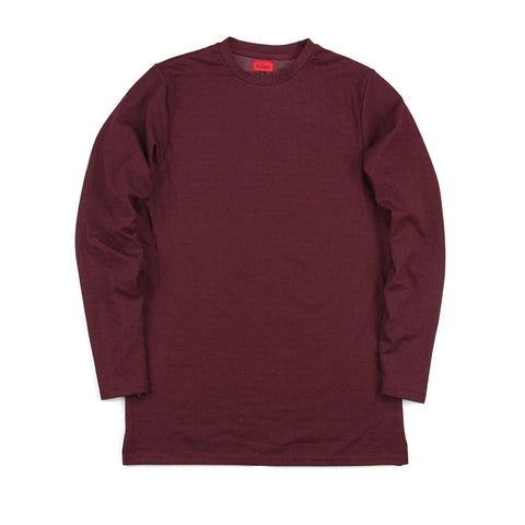 Microdot Long Sleeve - Burgundy