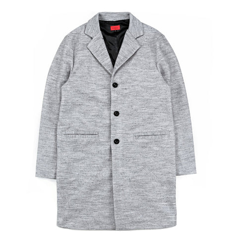 Marled Wool Coat - Grey