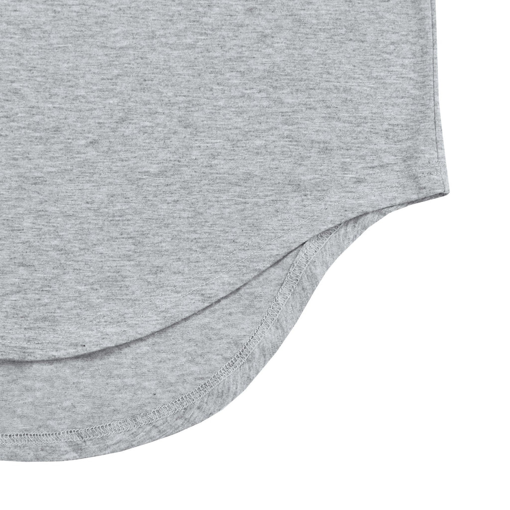 Scalloped SS Essential 2.0 - Heather Grey