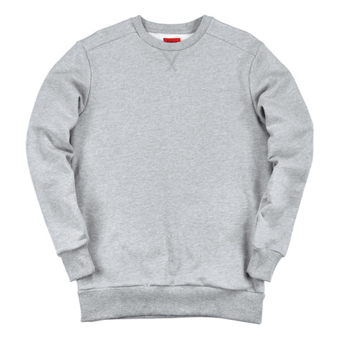 Overlap Crewneck Sweater - Heather Grey