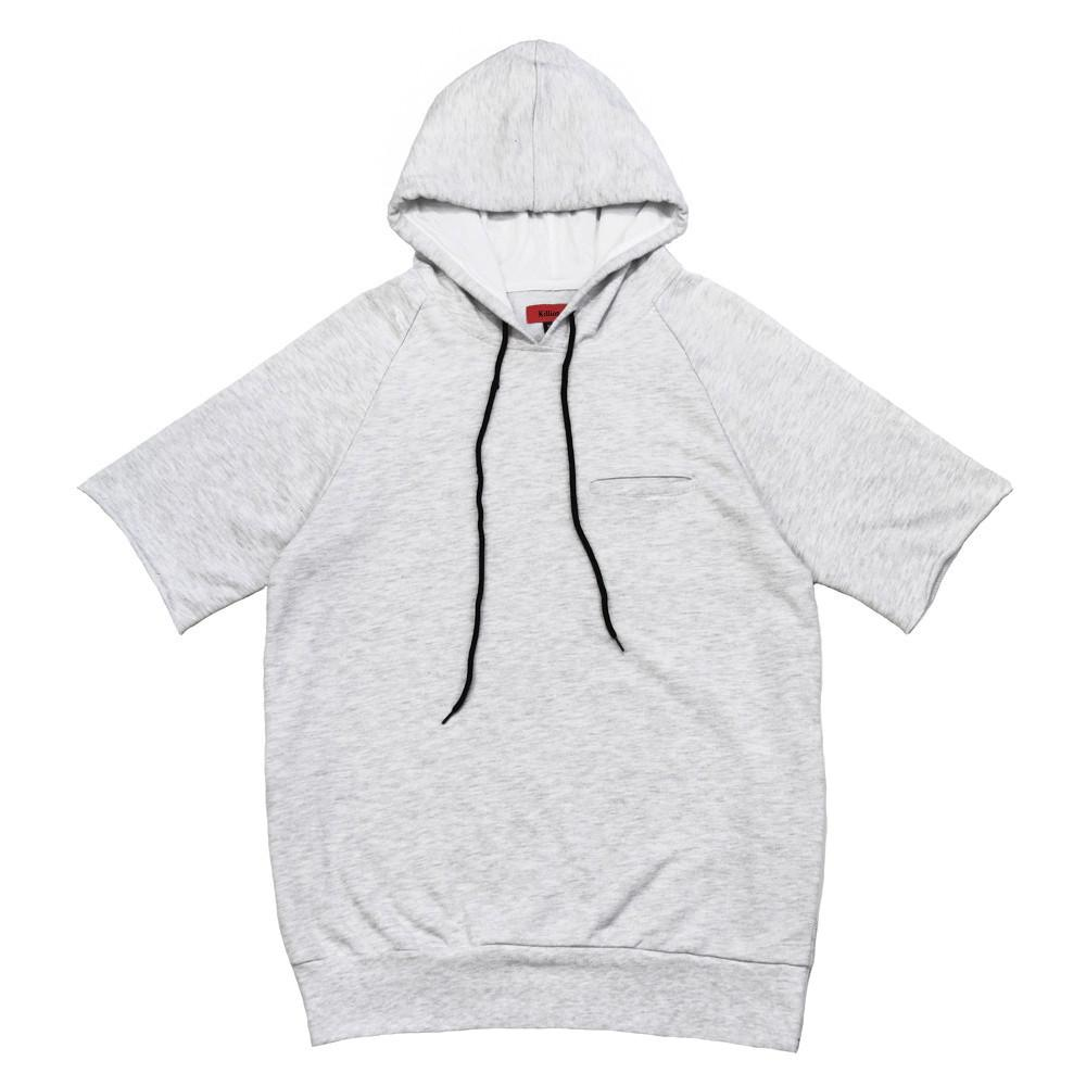 Gramercy French Terry S/S Hoody - Heather Grey