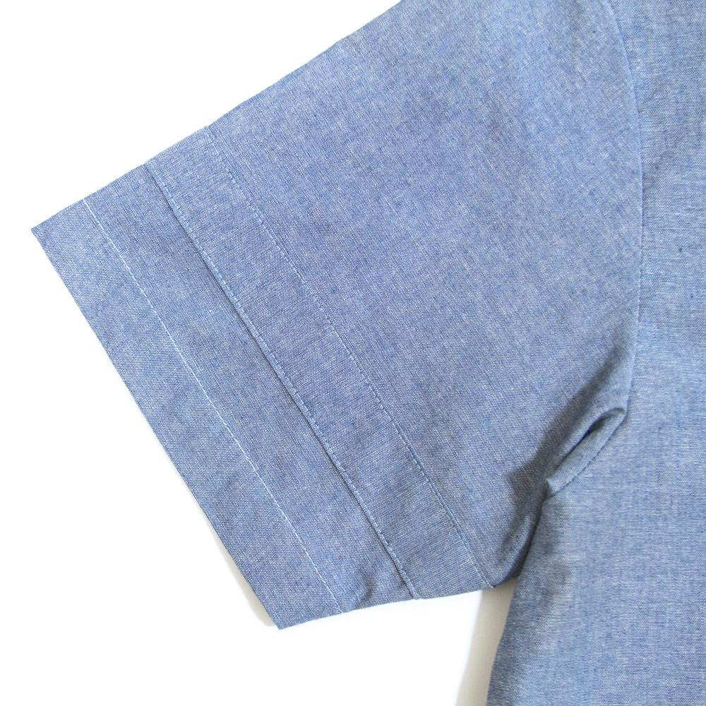 Hensworth Fishtail Top - Chambray Blue