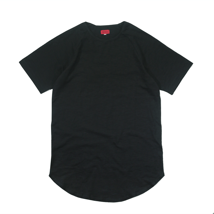 Lightweight Melange Scoop Shirt - Black