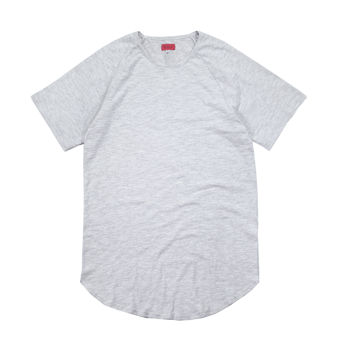 Lightweight Melange Scoop Shirt - Grey
