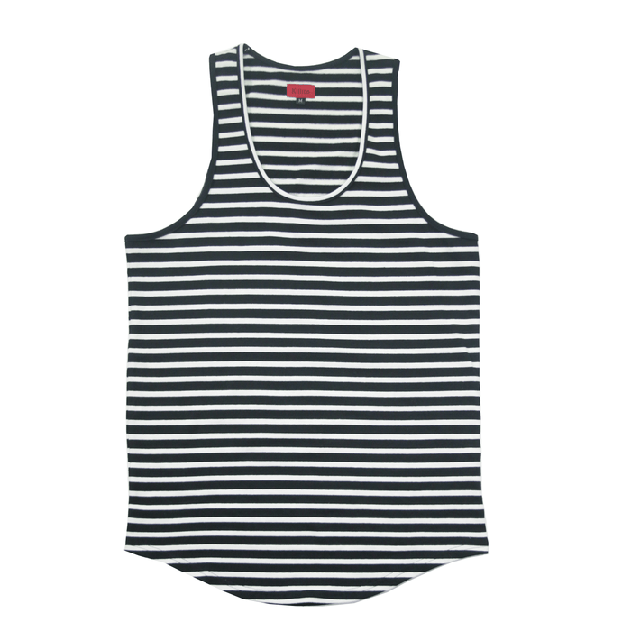 Scoop Striped Tank Top - Black/White (05.05.20 Release)