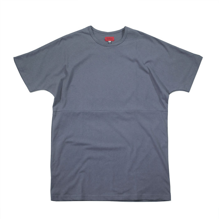 Slub Washed Box Tee - Slate Blue
