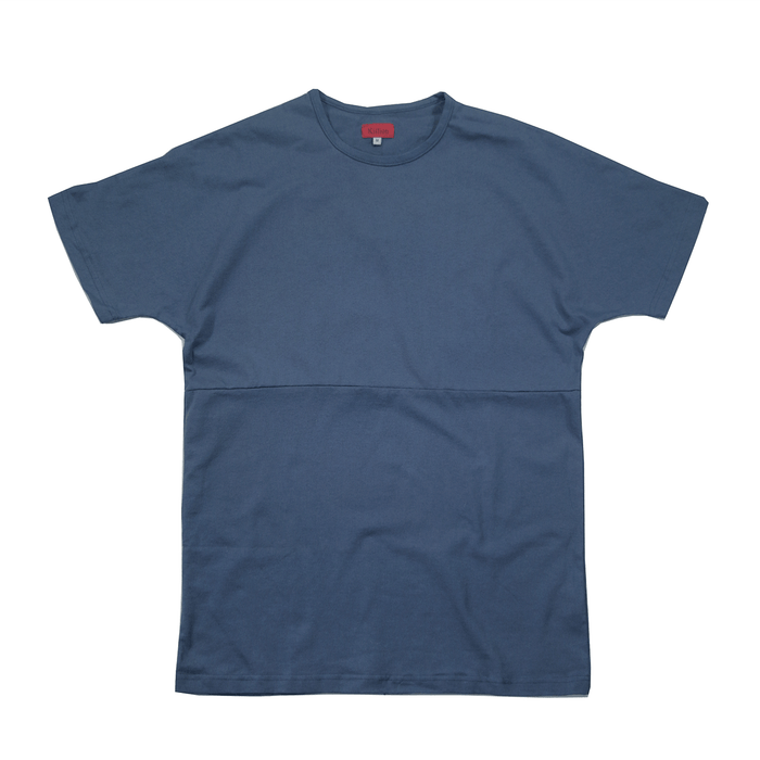 Slub Washed Box Tee - Washed Navy