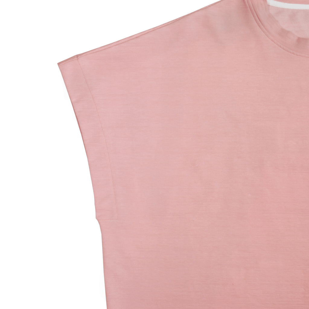 Loose Cut-Off Top - Peach