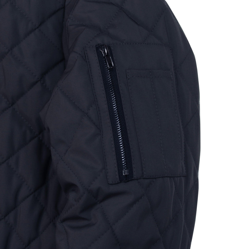 Quilted MA-1 Bomber Jacket - Navy