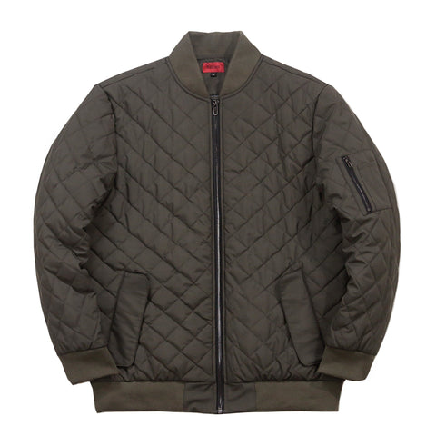 Quilted MA-1 Bomber Jacket - Olive