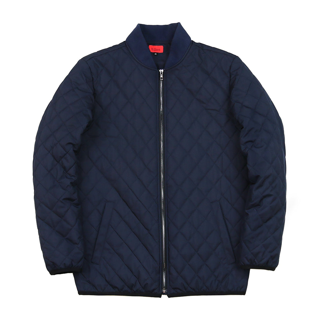 Quilted Coach Jacket Navy