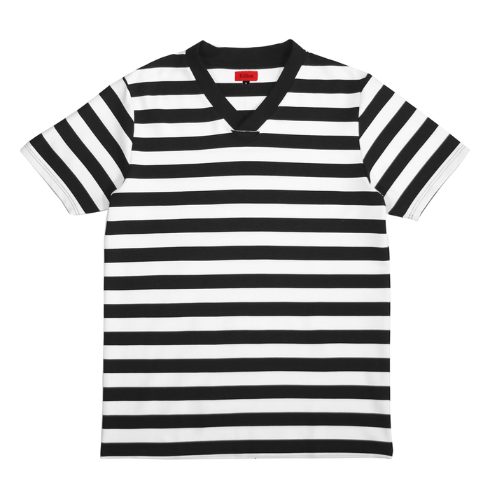 Striped V-Top