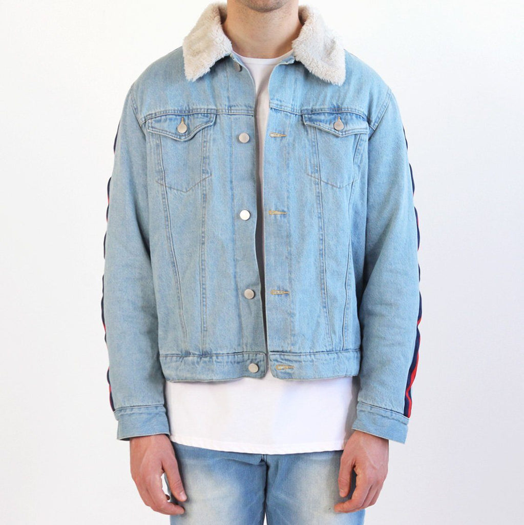 Denim Track Jacket