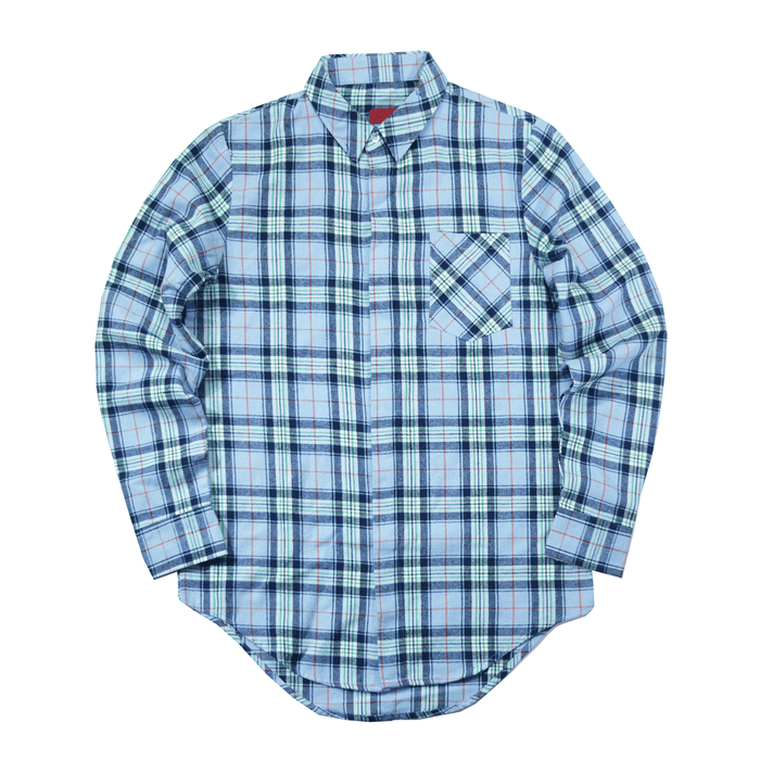 Maison Flannel LS Buttonup - Light Blue