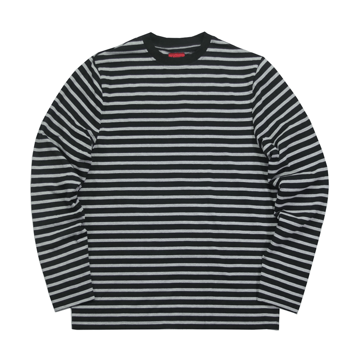 Standard Striped L/S Essential - Black/Grey
