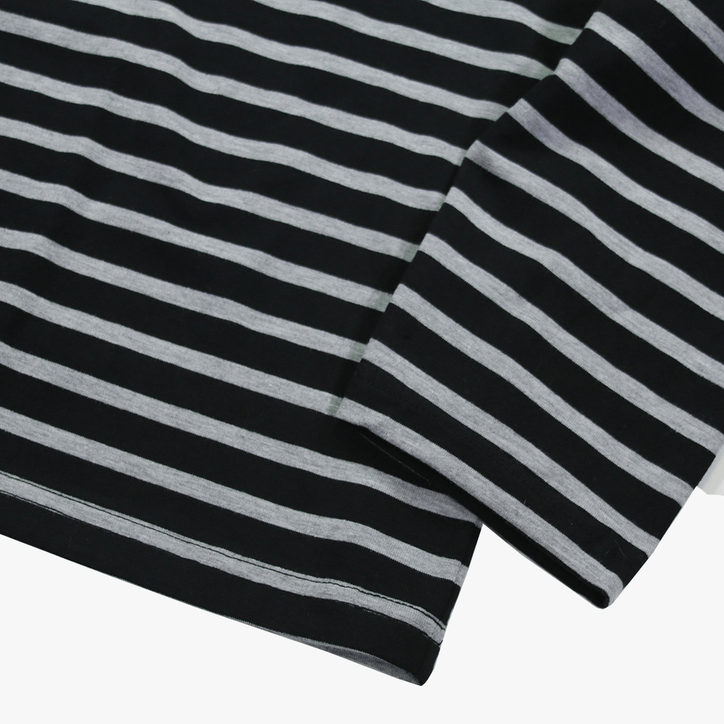 (11.14.19 Release) Standard Striped L/S Essential - Black/Grey
