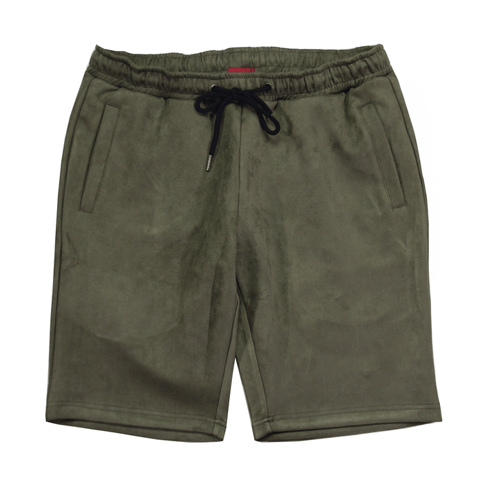 Suede Butter Shorts - Olive