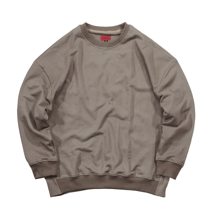 Oversized Side Cut Crewneck - Taupe