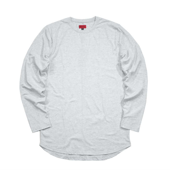 Standard Issue SI-12 L/S Essential - Light Heather Grey