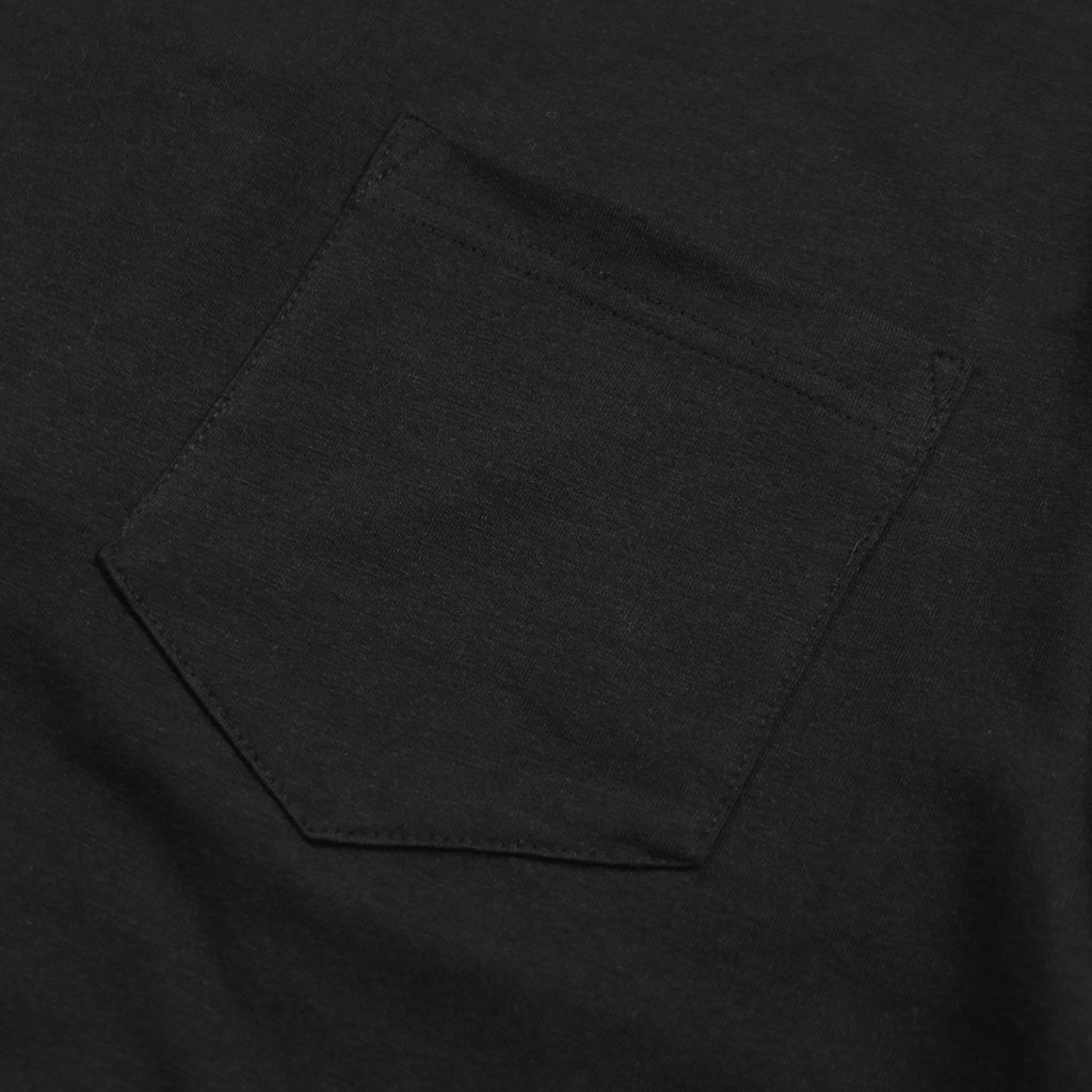 Boxy Fit Pocket Tee Essential - Black
