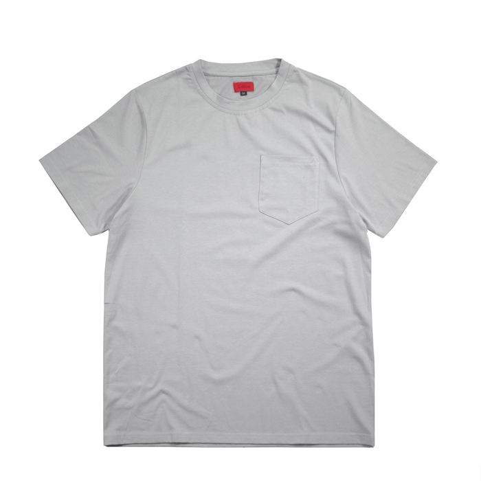 Boxy Fit Pocket Tee Essential - Cement