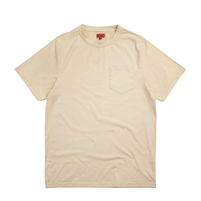 Boxy Fit Pocket Tee Essential - Cream