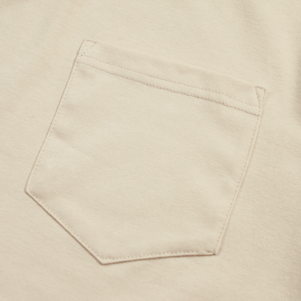 Boxy Fit Pocket Tee Essential - Cream (05.14.19 Release)