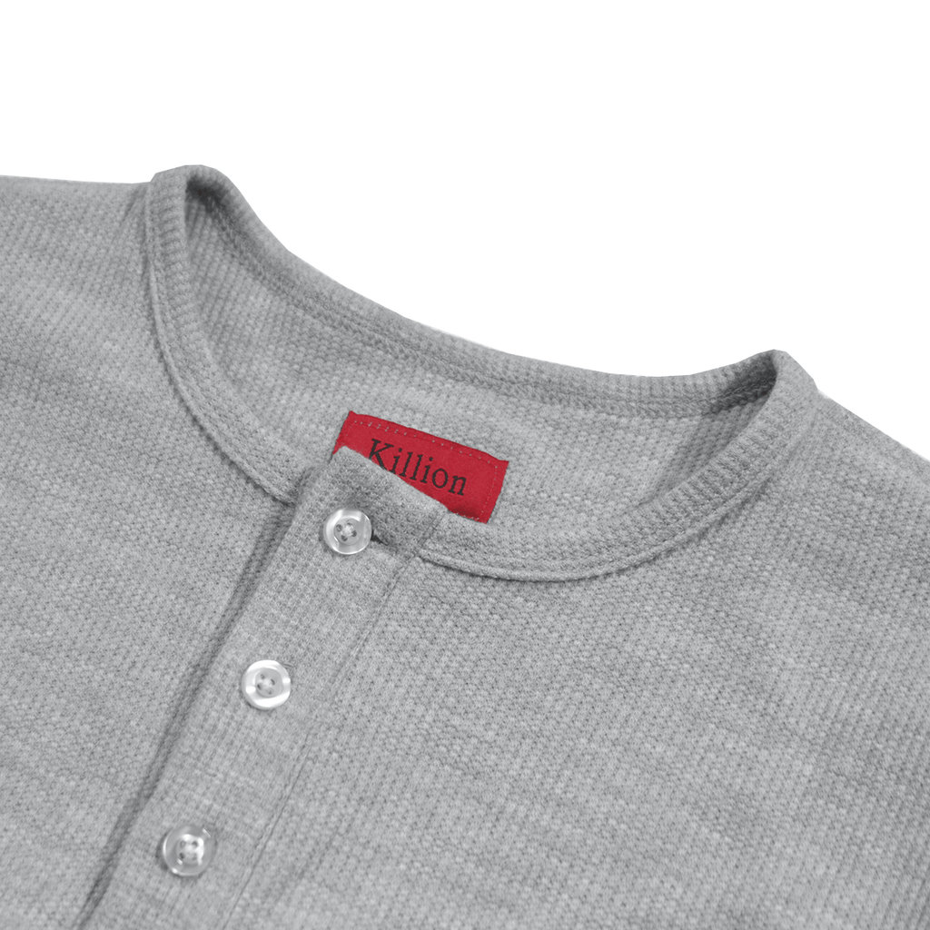 Henley Waffle Knit Long Sleeve - Heather Grey (03.17.20 Release)