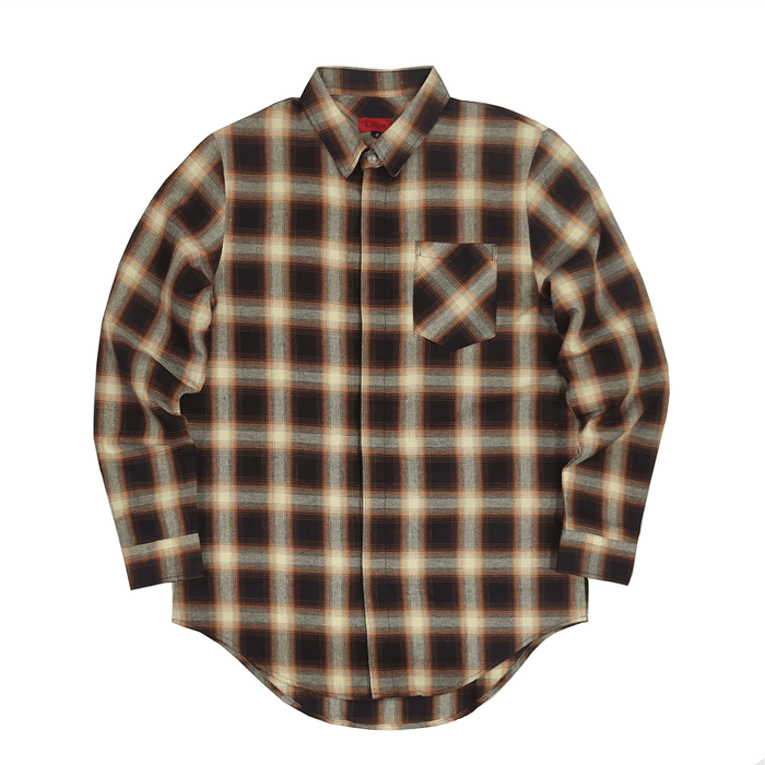 Shadow Flannel LS Buttonup - Wheat/Brown