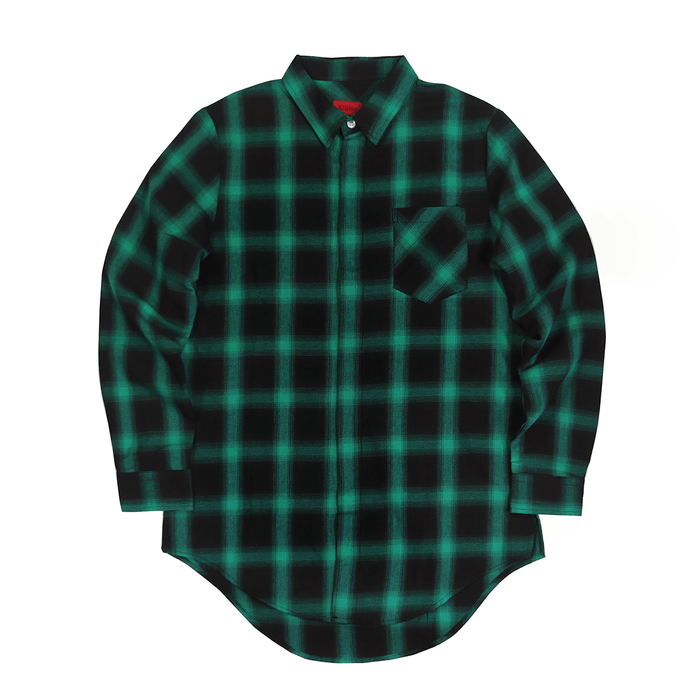 Shadow Flannel LS Buttonup - Black/Green
