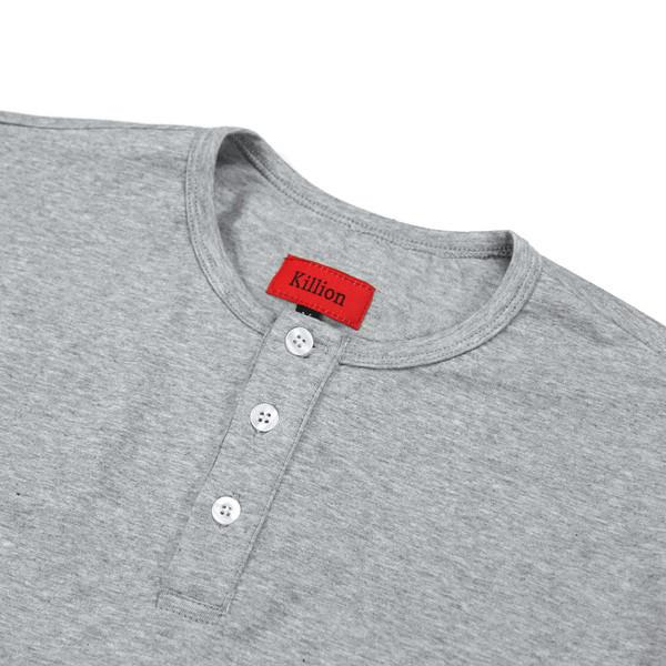 Standard LS Henley - Heather Grey
