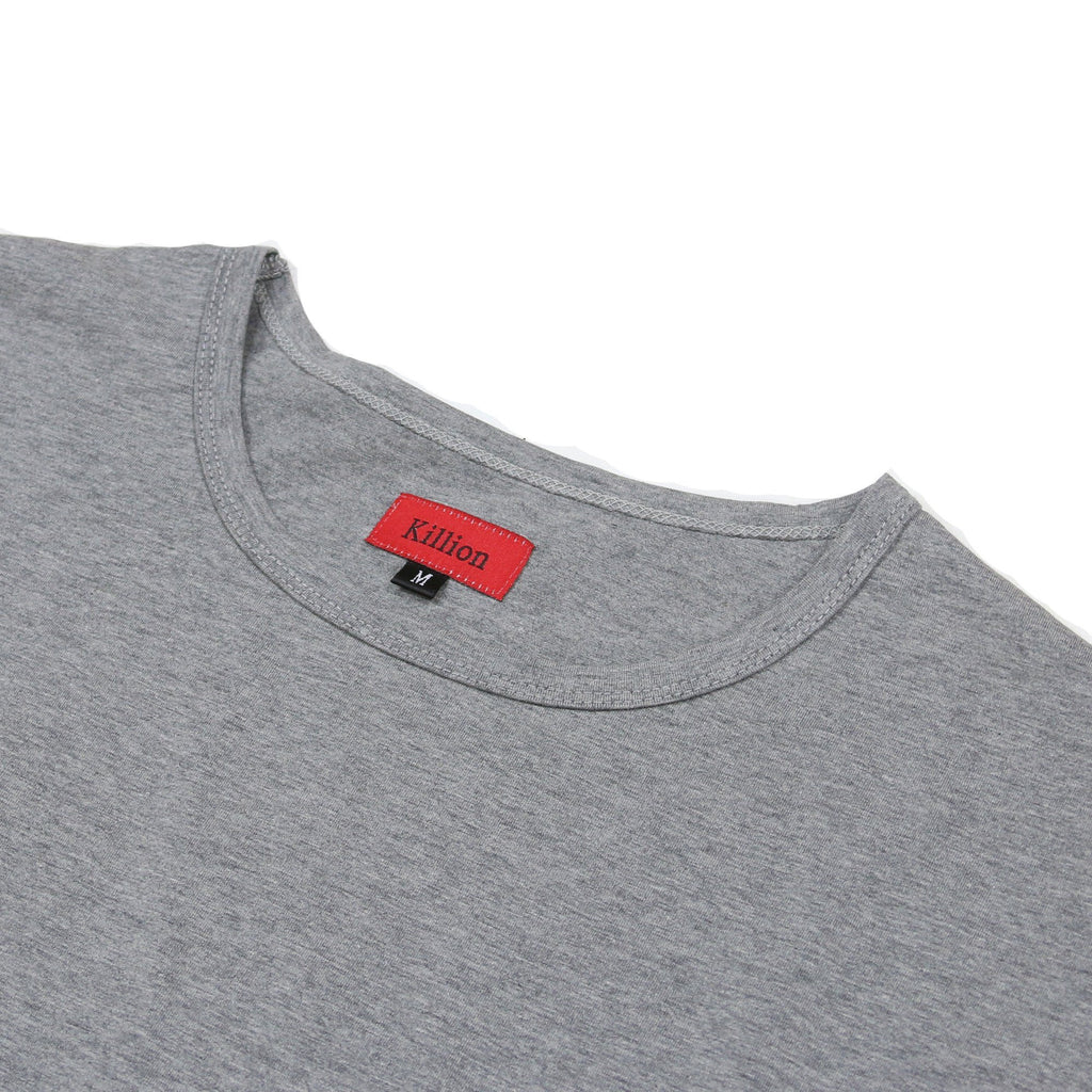 3/4 Sleeve Boxy Shirt - Charcoal Heather