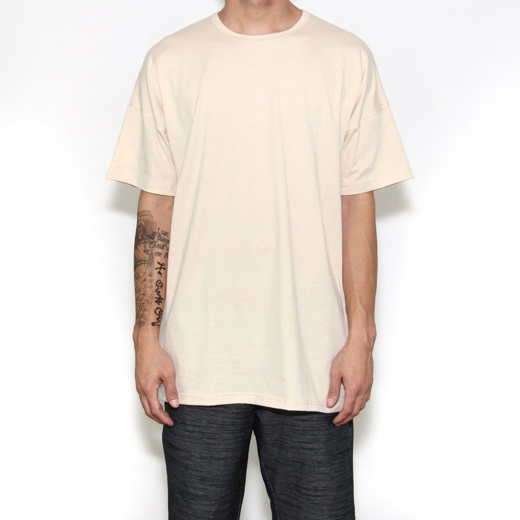 Essential Dropped Shoulder Box Tee - Ivory