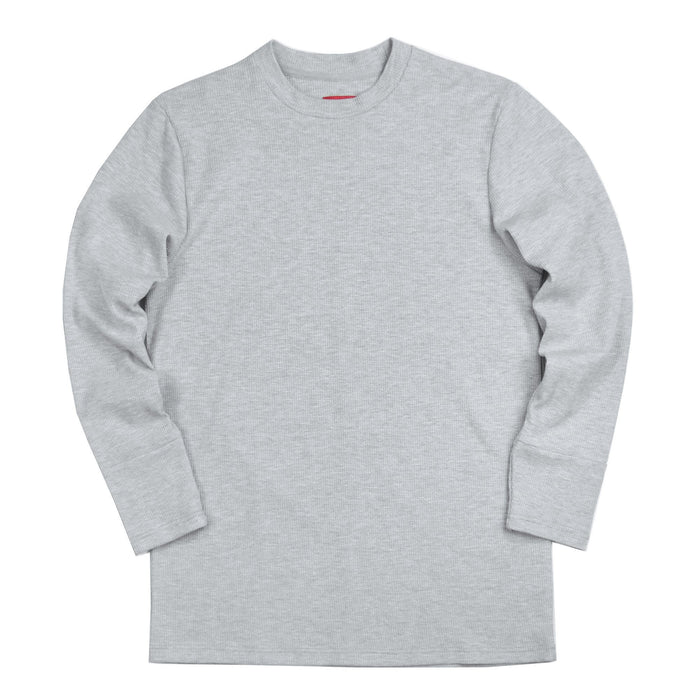 Waffle Knit Long Sleeve - Heather Grey