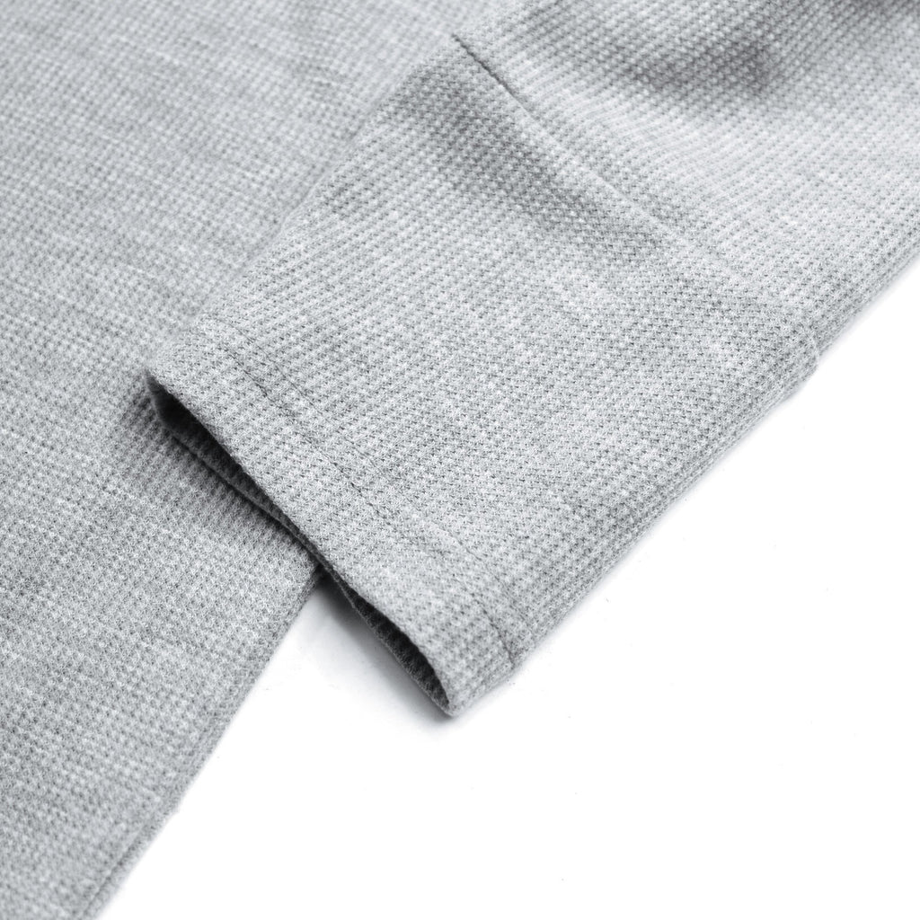 Waffle Knit Long Sleeve - Heather Grey  (12.08.20 Release)