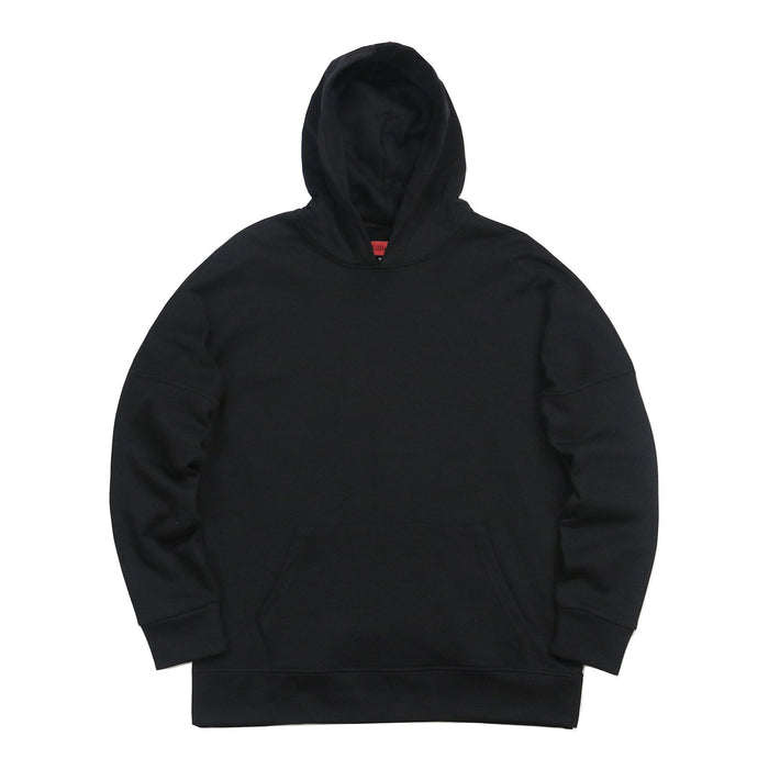 Draped Essential Hoodie - Black