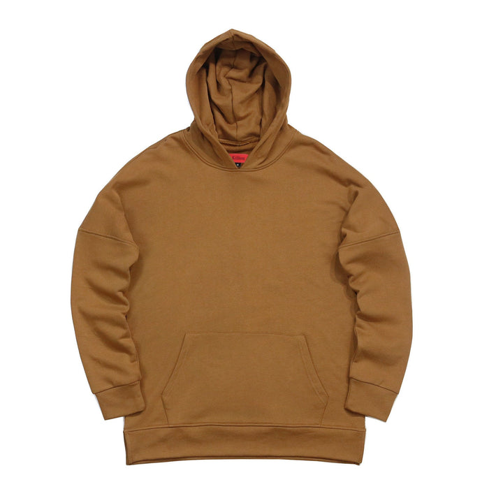 Draped Essential Hoodie - Tan Brown