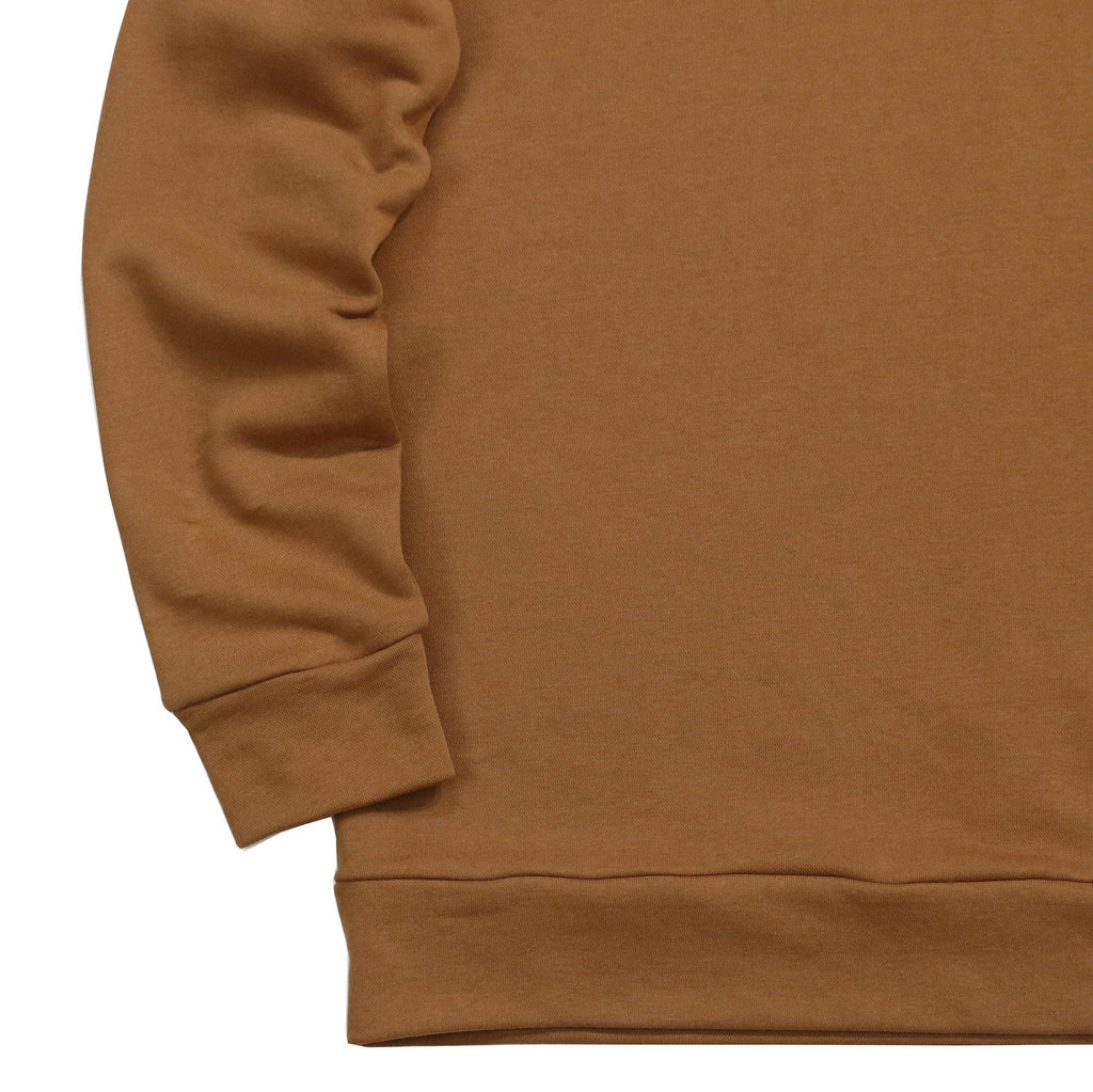 Draped Sweatshirt - Tan Brown