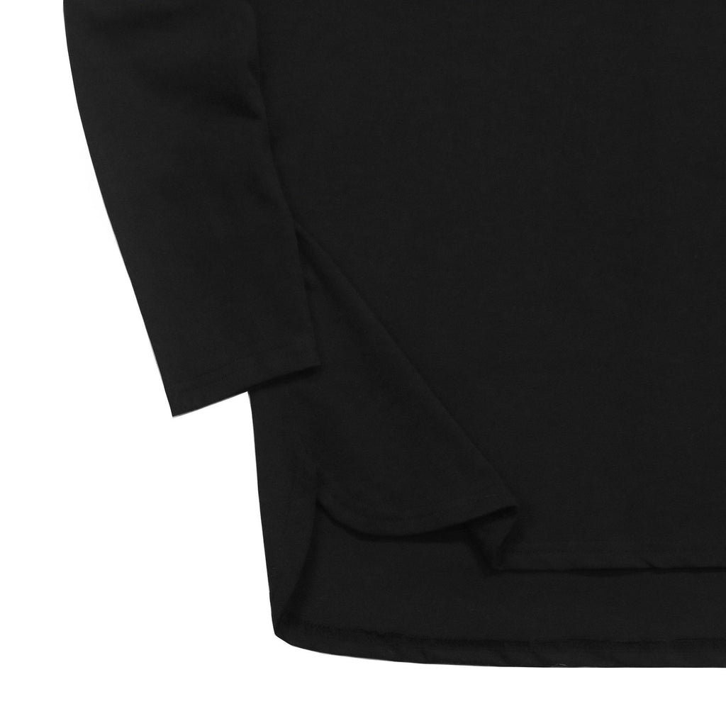 Half Scoop Hem Long Sleeve - Black (03.12.19 RELEASE)