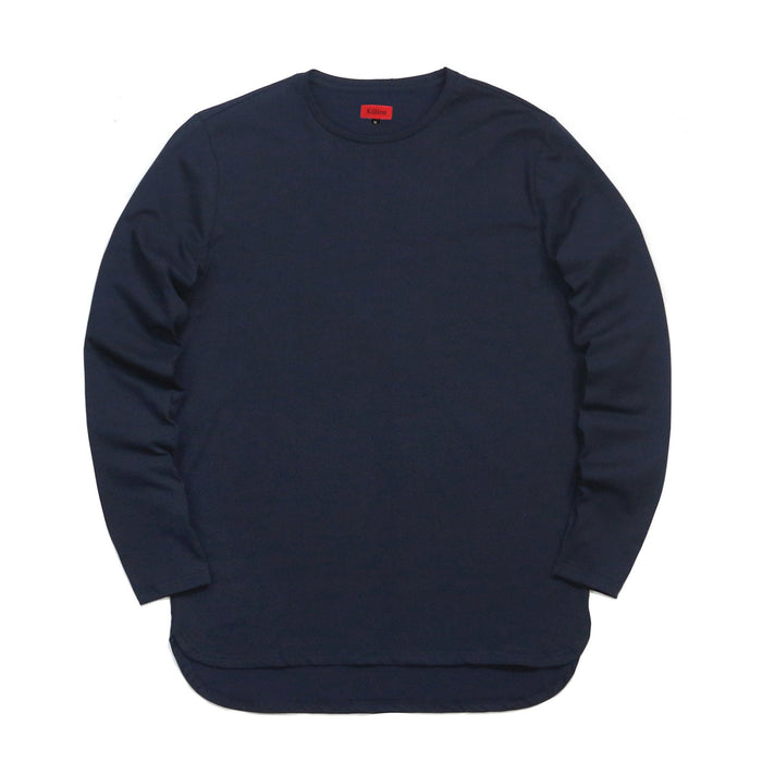 Half Scoop Hem Long Sleeve - Navy (Preorder)