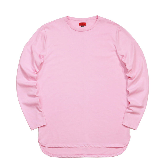 Half Scoop Hem Long Sleeve - Pink (Preorder)