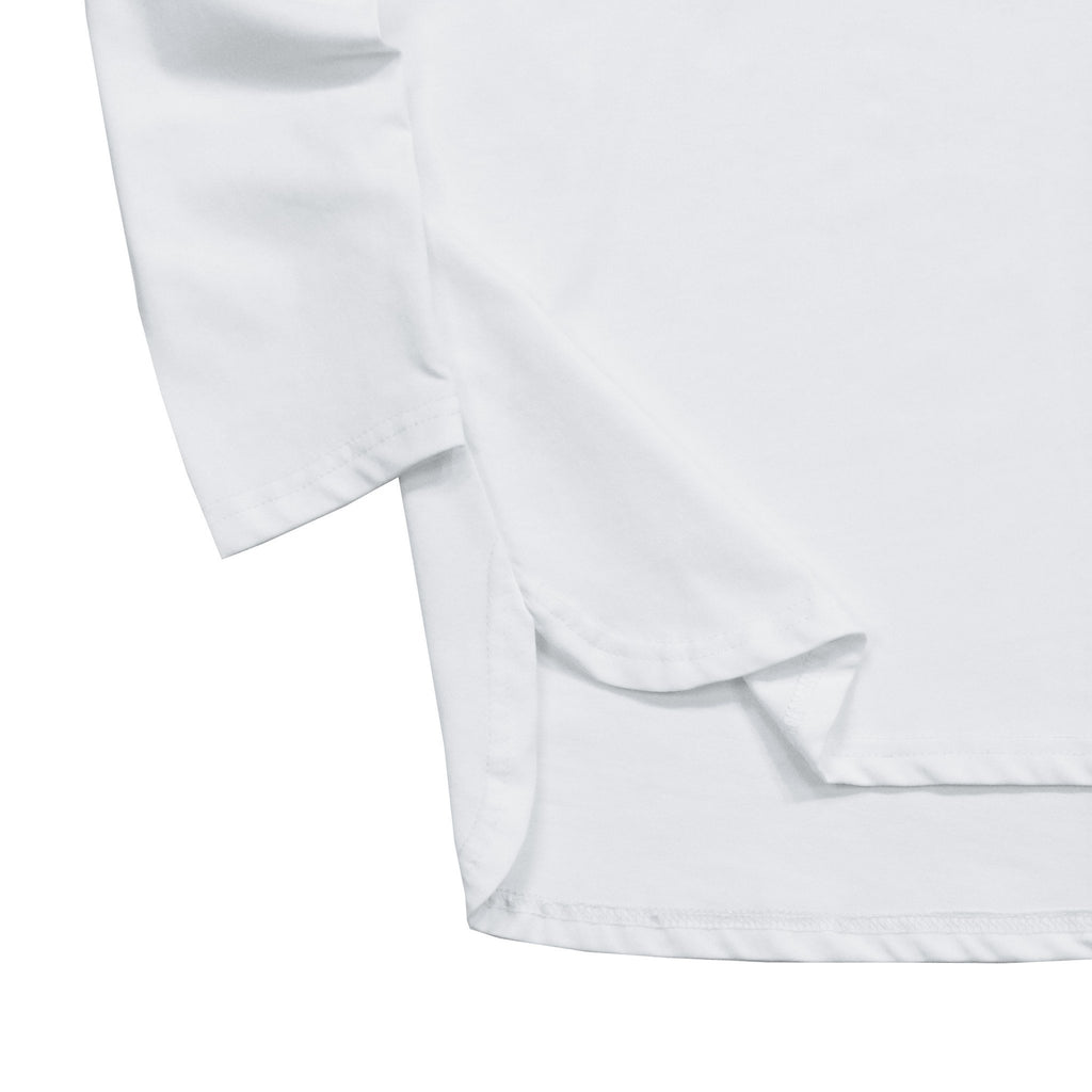 Half Scoop Hem Long Sleeve - White (03.12.19 RELEASE)