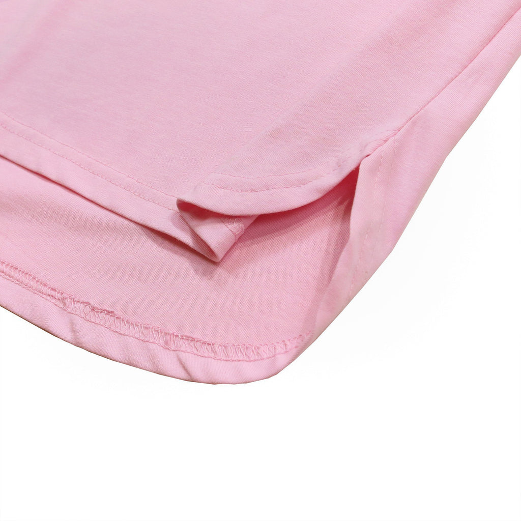 Half Scoop Hem SS Essential - Pink
